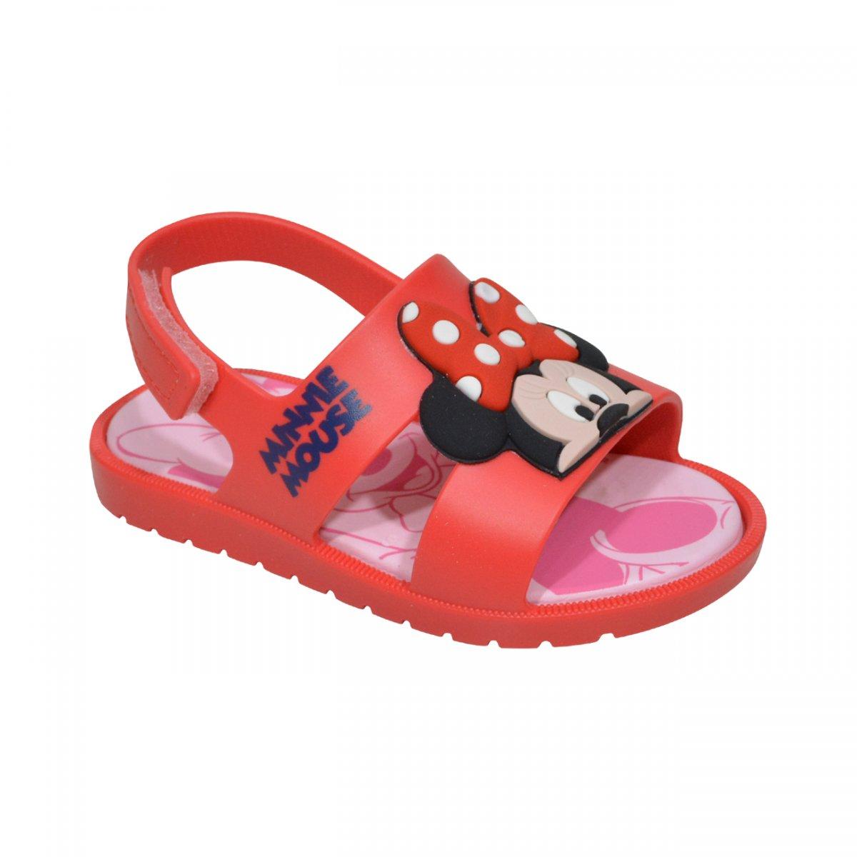 Sustancialmente Chelín Frustración  Sandalia Grendene Disney Mickey e Minnie 21996 Bebe 21996 24007 ...