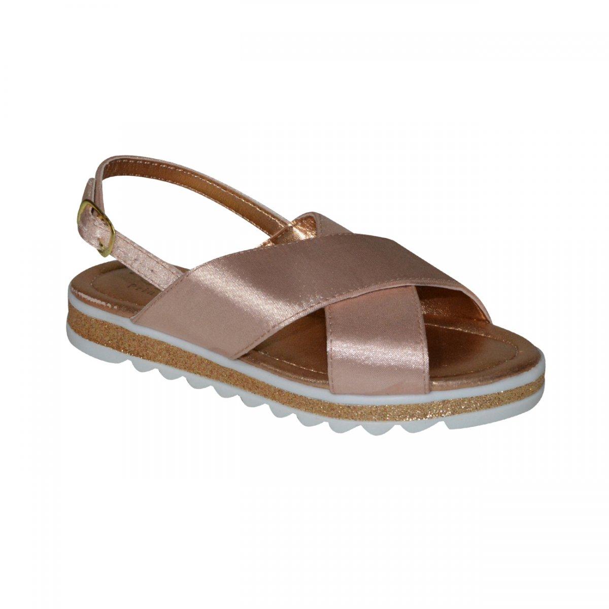 5a1074db05 Sandalia Klassipe Gloss 146.105 Infantil 146.105.993 - Nude - Chuteira  Nike