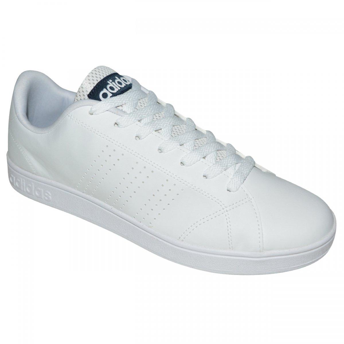 ... Tenis Adidas Advantage Clean F99252 - Branco branco marinho - Chuteira  Nike 55ed8471b41ee