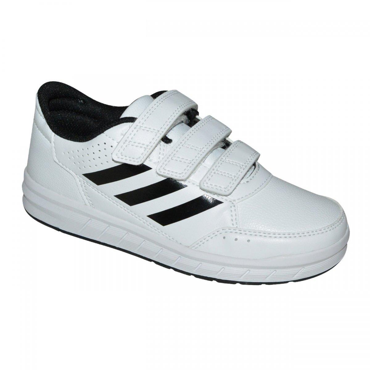 de6cb97d1e5 Tenis Adidas AltaSport CF K Infantil BA7458 - Branco Preto - Chuteira Nike