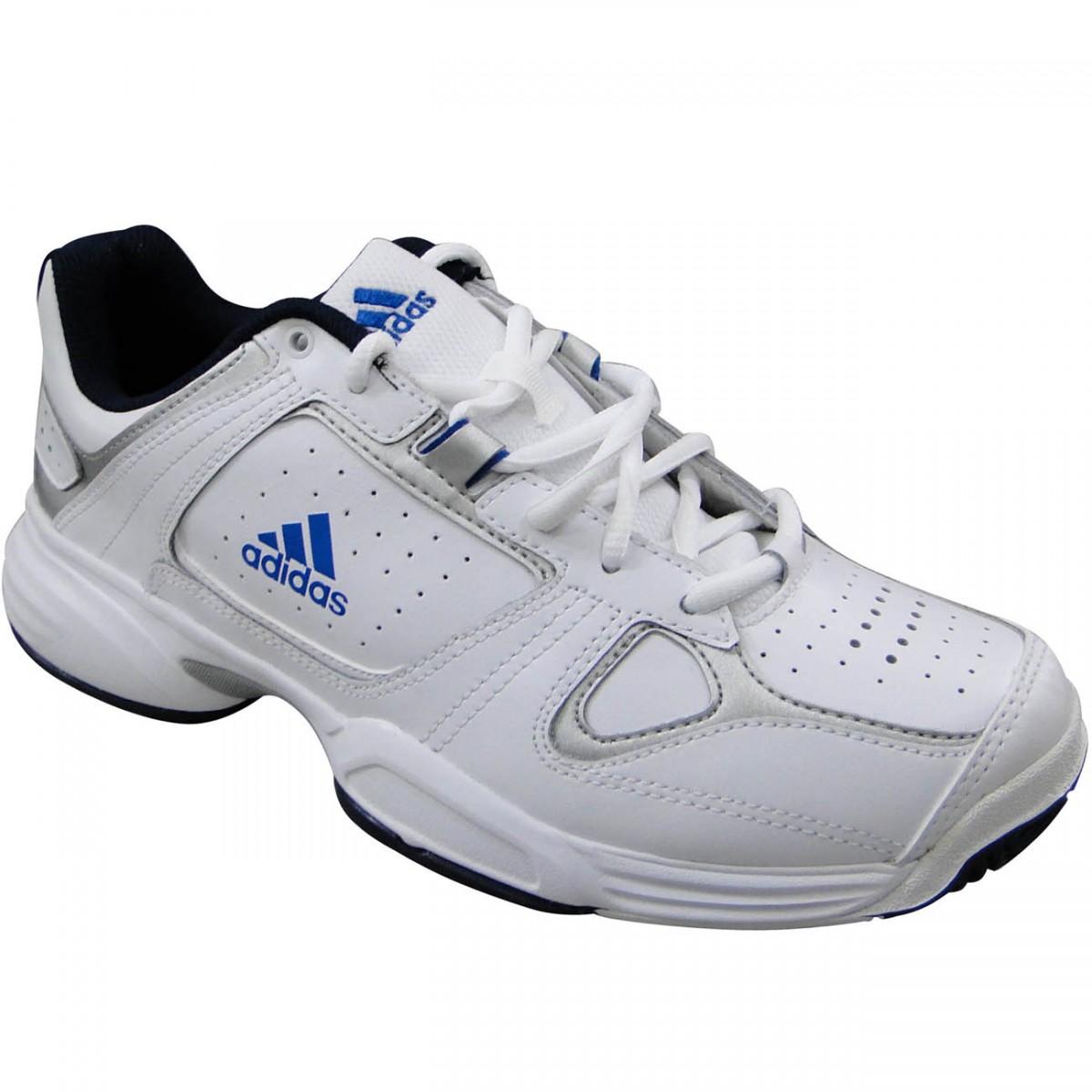 Tênis Adidas Ambition Logo V 9204 - BRANCO AZUL - Chuteira Nike ... 9cb3d46addabb