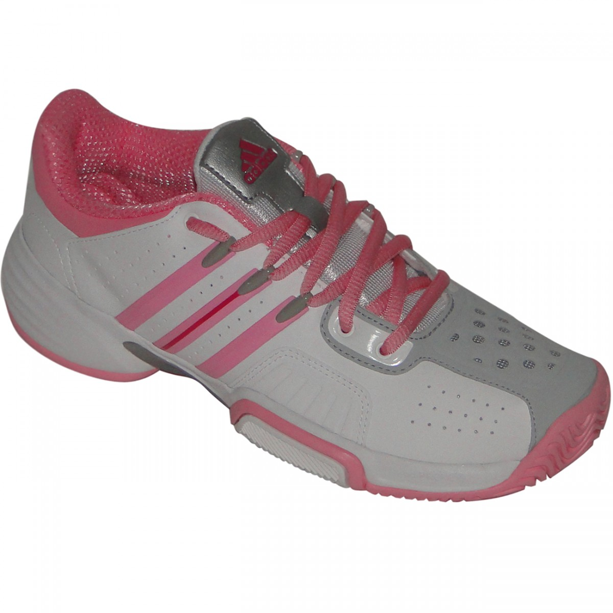 f2626146b70 Tênis Adidas Barricade Team 7583 - BRANCO ROSA - Chuteira Nike ...