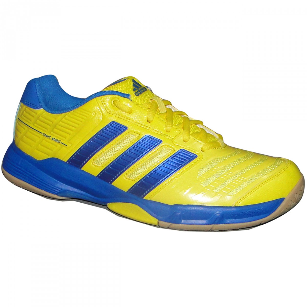 Tenis Adidas Court Stabil 10 G64995 - Amarelo Azul - Chuteira Nike ... 0ca69e4b74a