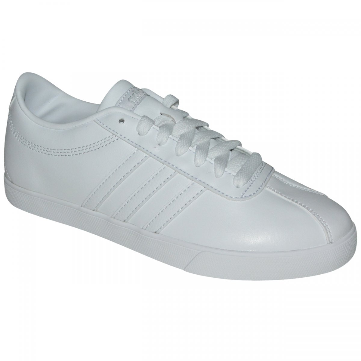 de0af47b7 Tenis Adidas Courtset W BB9659 - Branco/Branco - Chuteira Nike, Adidas.  Sandalias Femininas. Sandy Calçados