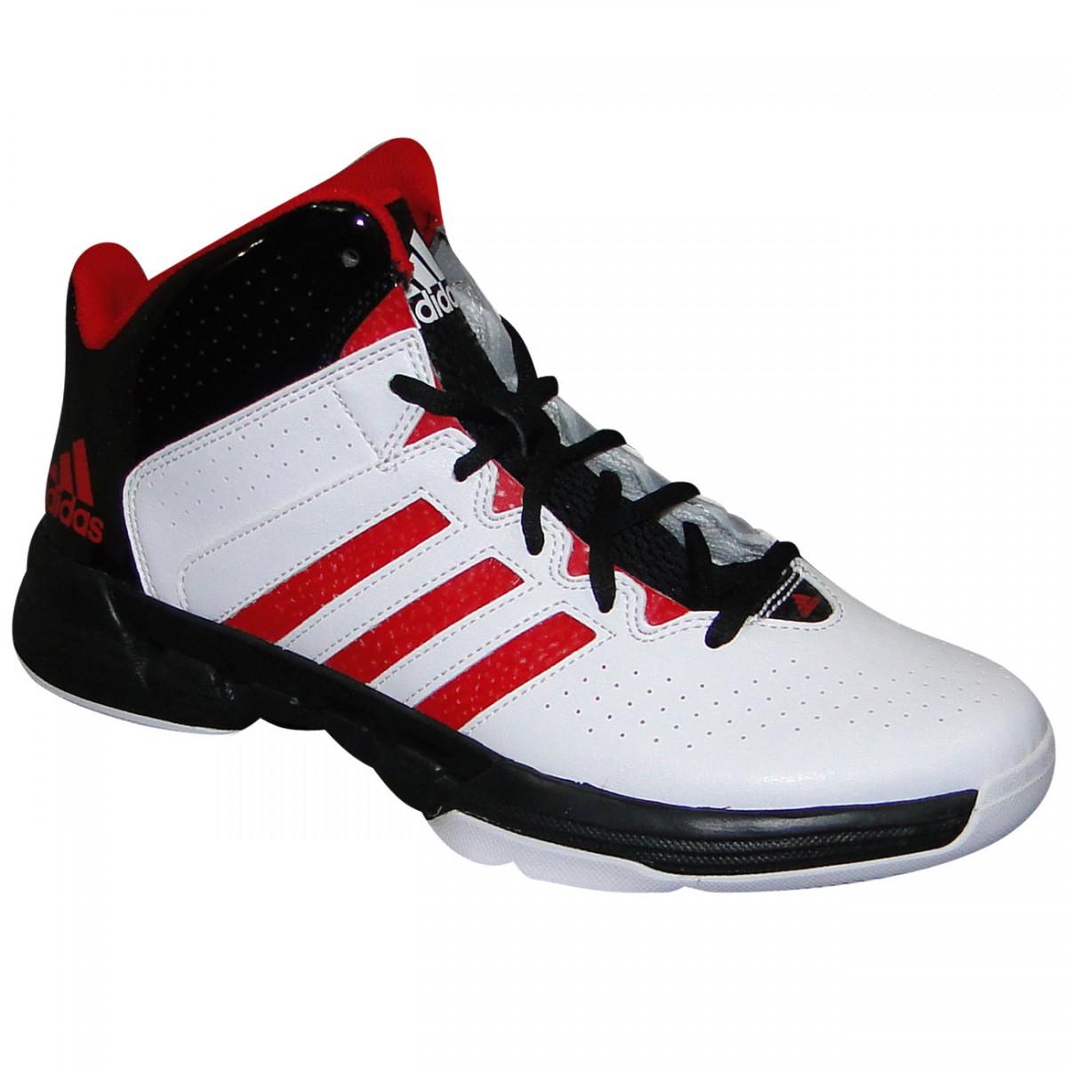 9021a92a746 Tenis Adidas Cross C75553 - Branco Preto Vermelho - Chuteira Nike ...