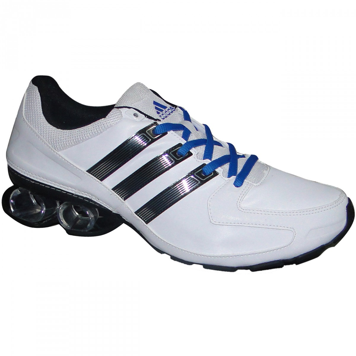 8bc07e5e36f03 Tenis Adidas Komet Q34320 - Branco/Preto/Azul - Chuteira Nike ...