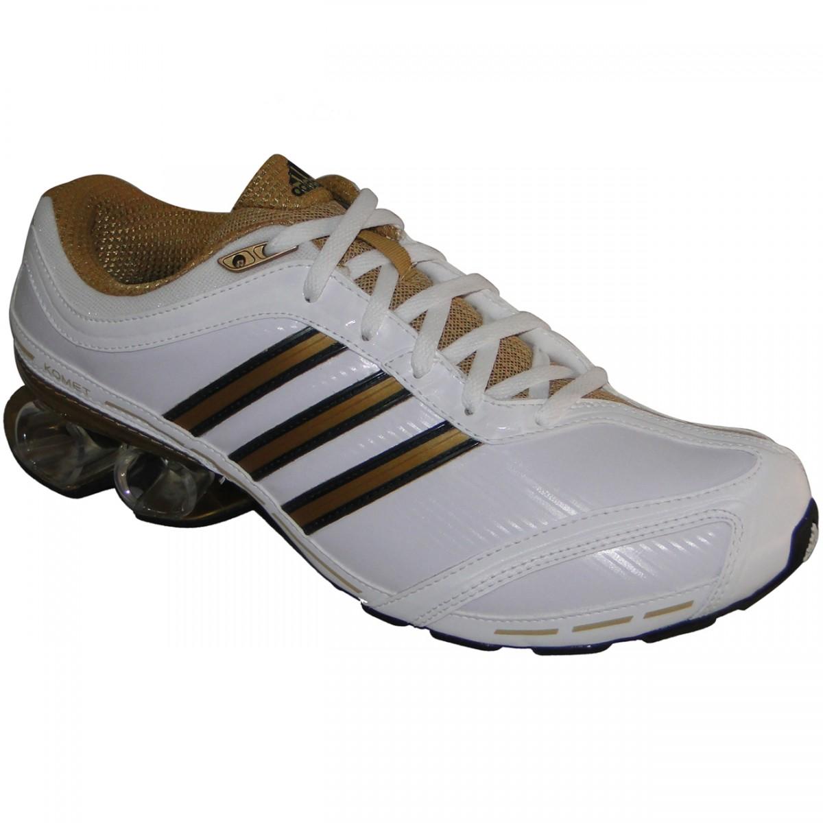 c8cedcd68 Tênis Adidas Komet M 9190 - BRANCO/DOURADO - Chuteira Nike, Adidas.  Sandalias Femininas. Sandy Calçados
