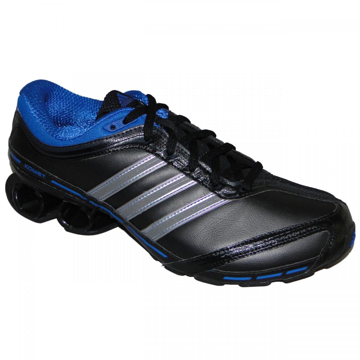 Tênis Adidas Komet M 7719 - PRETO PRATA AZUL - Chuteira Nike ee6526cd40e41