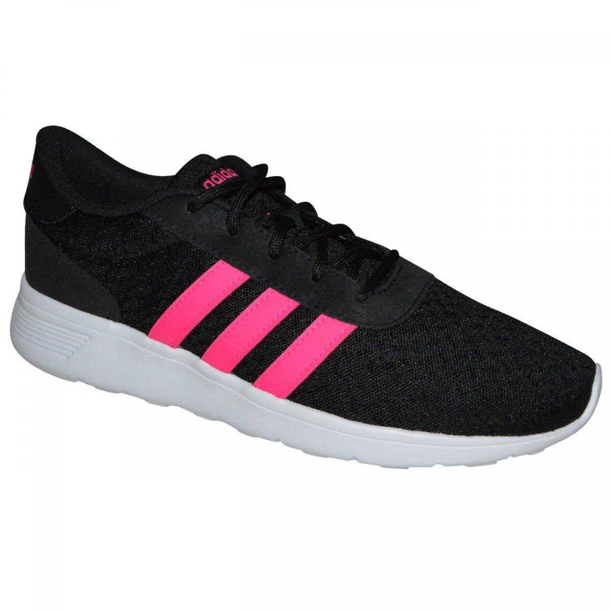 b6c9b62b57804 Tenis Adidas Lite Racer W BB9835 - Preto/Pink/Branco - Chuteira Nike, Adidas.  Sandalias Femininas. Sandy Calçados