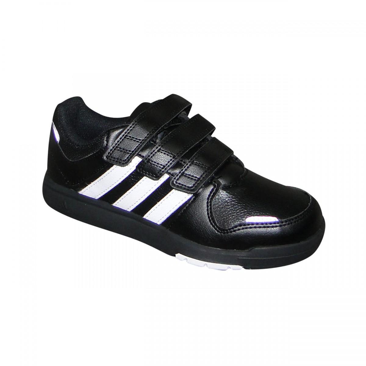 77e5335a93c Tenis Adidas Lk Trainer 6 Juvenil M20055 - Preto Branco - Chuteira ...
