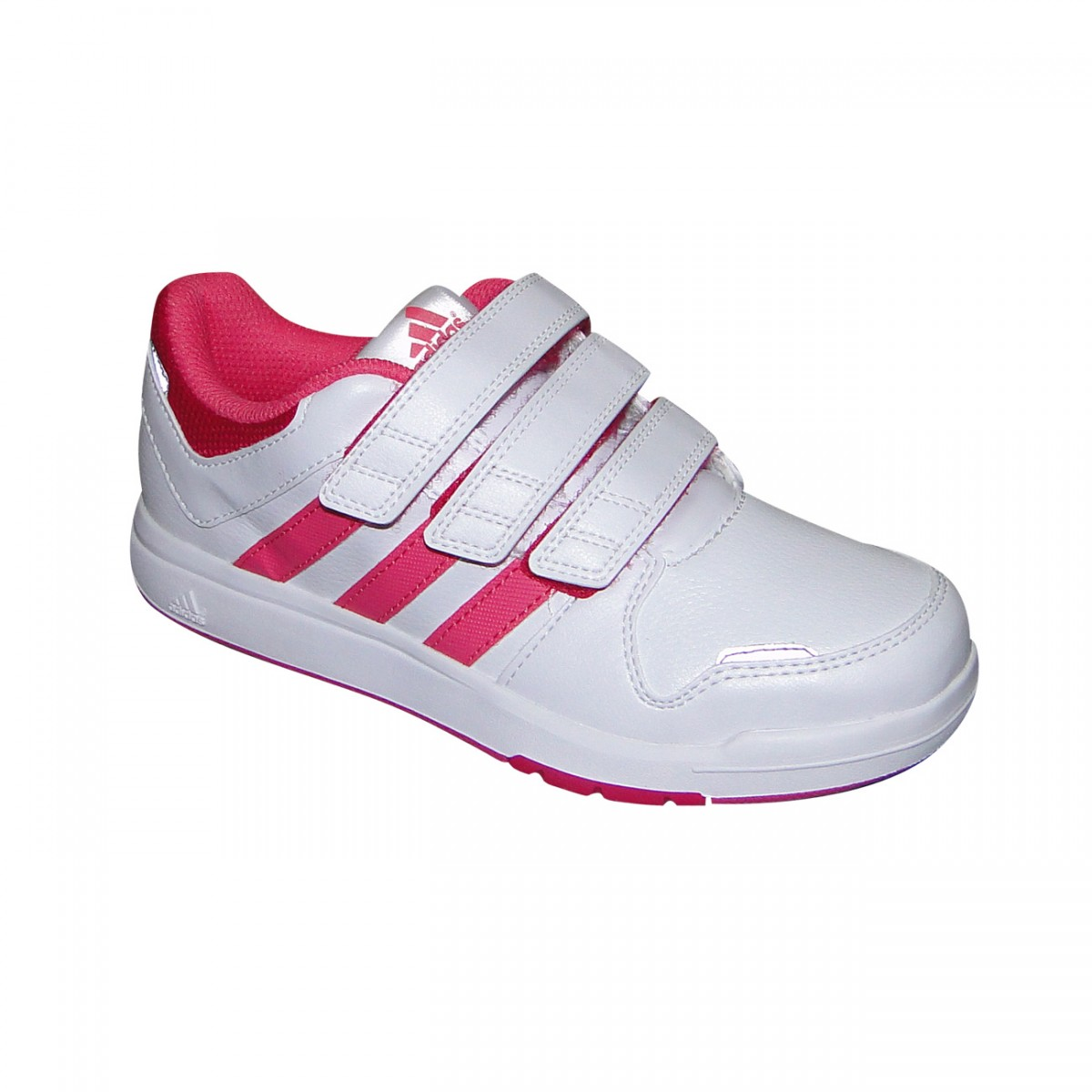 ef1664c9c54 Tenis Adidas Lk Trainer 6 Juvenil M20059 - Branco Pink - Chuteira ...