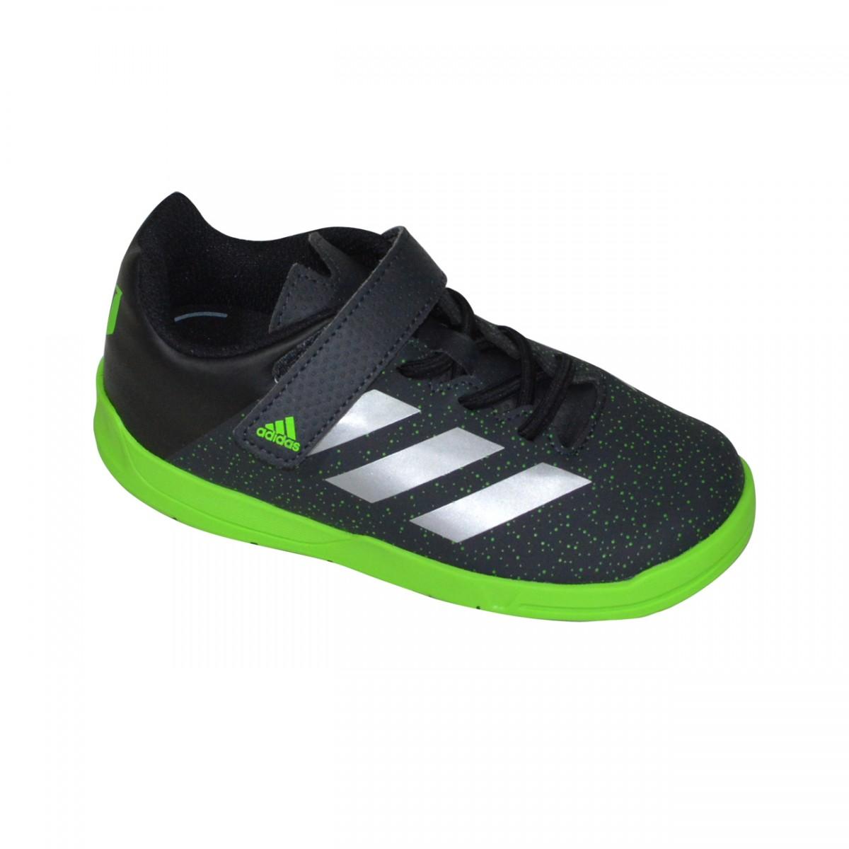 cf4e69e29d66f Tenis Adidas Messi EL AQ2802 - Preto Verde - Chuteira Nike