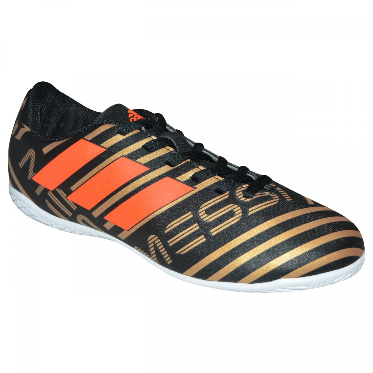 3742982b36ae3 Tenis Adidas Nemeziz Messi Tango 17.4 Juvenil CP9224 - Preto dourado laranja  - Chuteira Nike