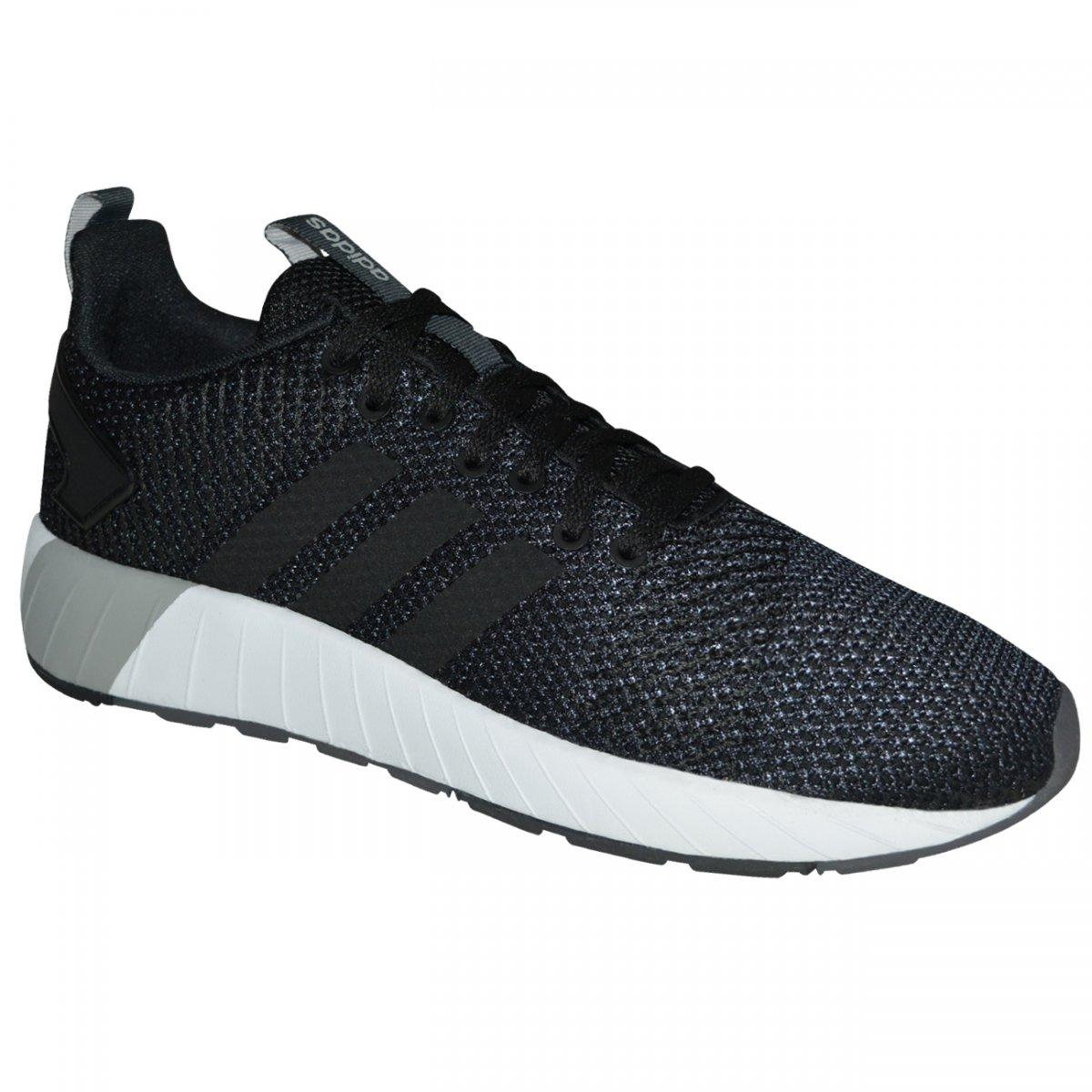 eacf7b84040 Tenis Adidas Questar Byd DB1540 - Preto preto branco - Chuteira Nike ...