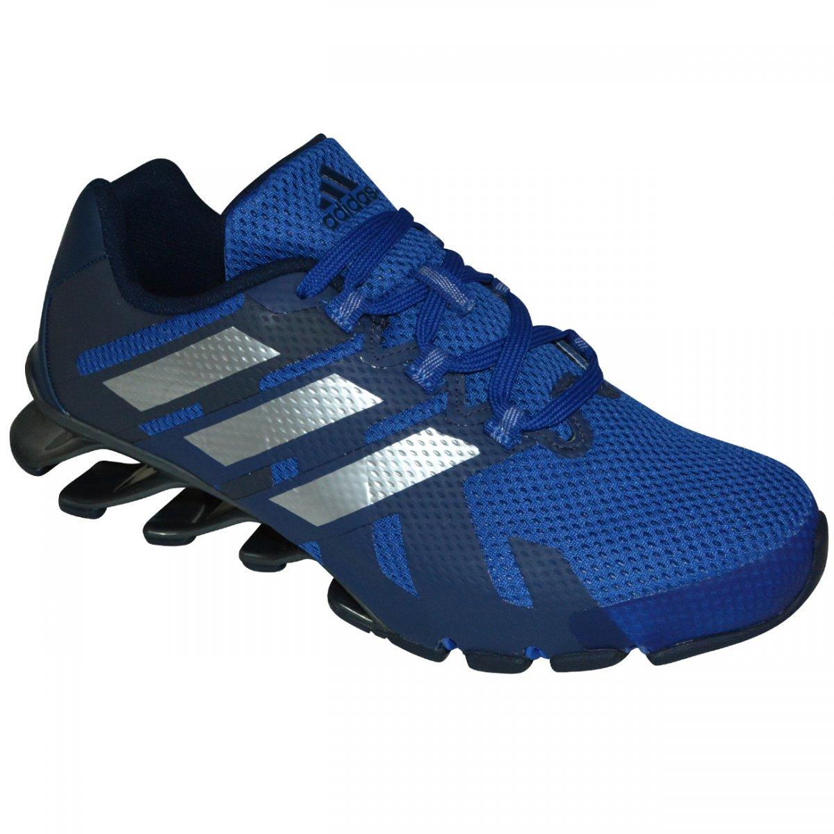 71b921a9a3 Tenis Adidas Springblade E-Force M B49424 - Azul Marinho Prata - Chuteira  Nike