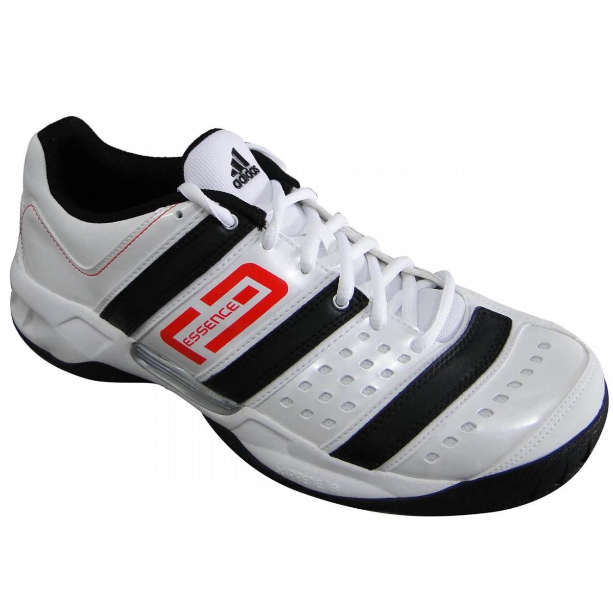 6c0672fc3b4 Tênis Adidas Stabil Essence 5597 - BRANCO PRETO VERMELHO - Chuteira Nike