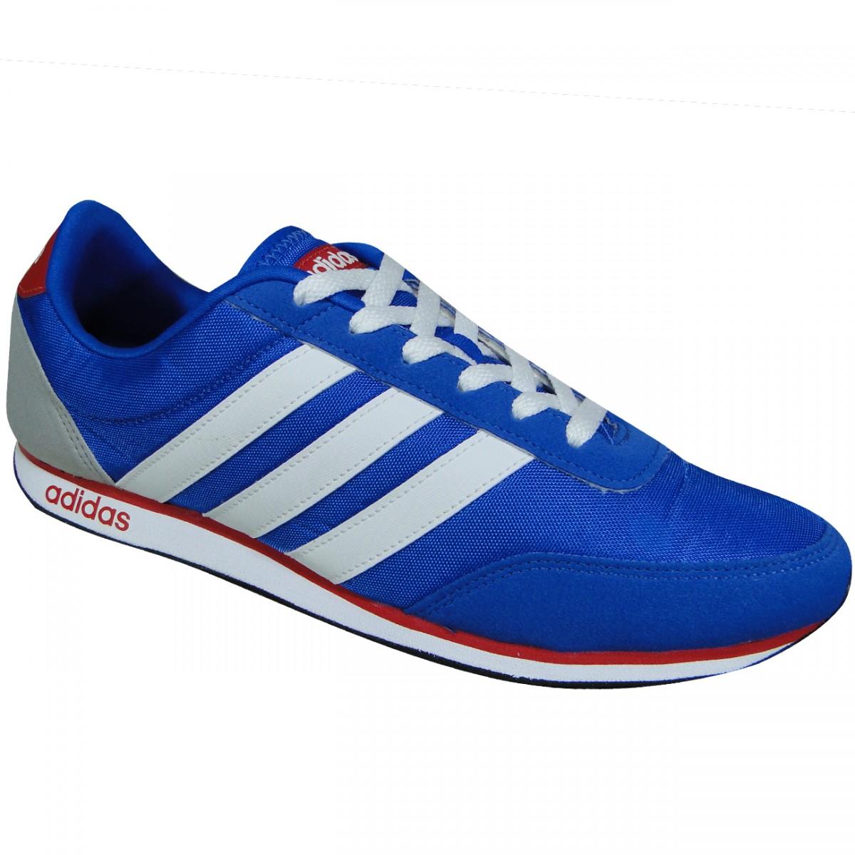 198d8b5718ce3 Tenis Adidas V Racer AW5051 - Azul Branco Vermelho - Chuteira Nike ...