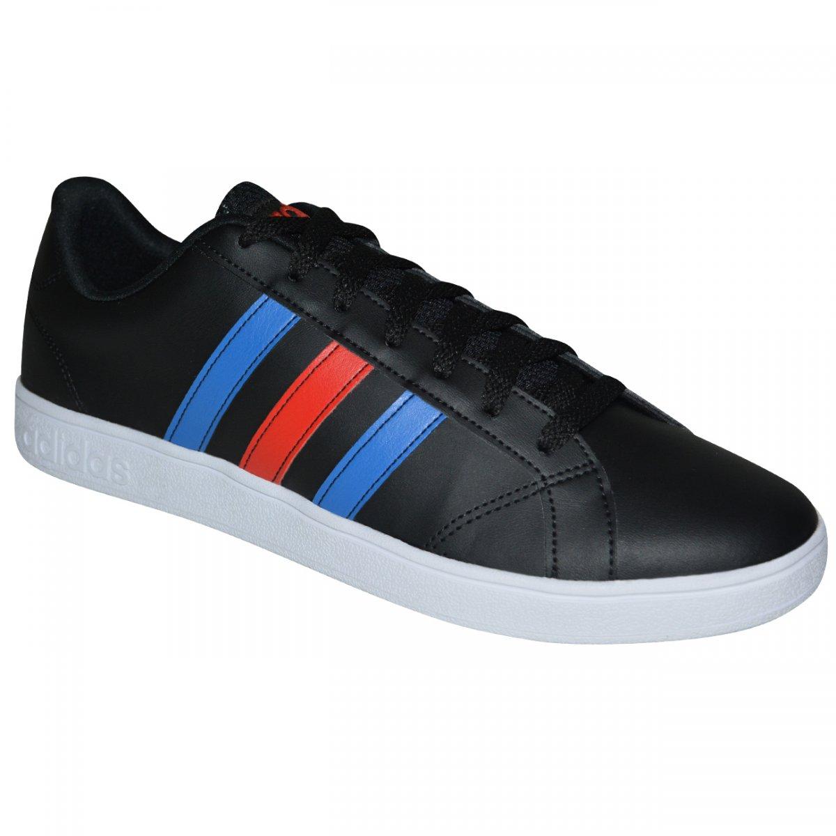 ceb5641643a Tenis Adidas VS Advantage DB0438 - Preto azul vermelho - Chuteira Nike