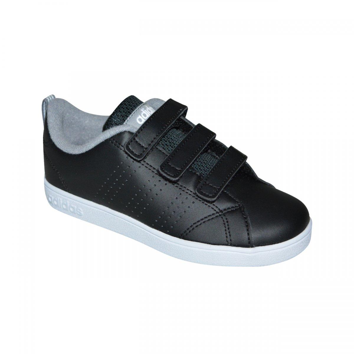 f4db8fd1e1 Tenis Adidas VS Advantage Clean CMF C Infantil DB1822 - Preto cinza branco  - Chuteira Nike