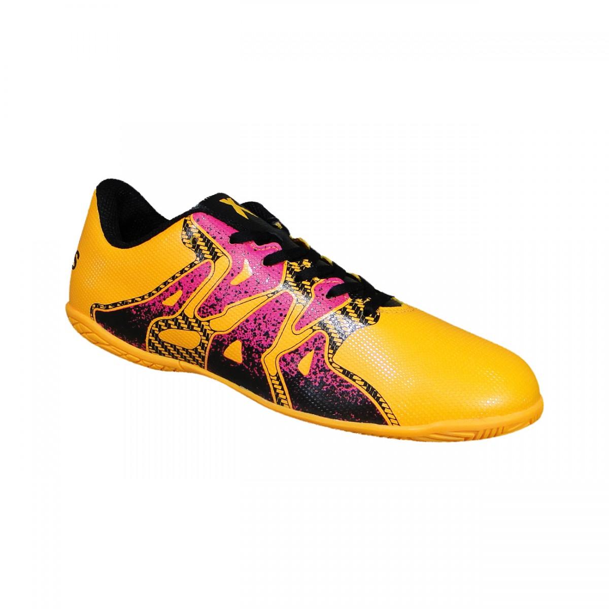 a1ef1b44ce Tenis Adidas X 15.4 Infantil S74605 - Laranja Pink Preto - Chuteira ...