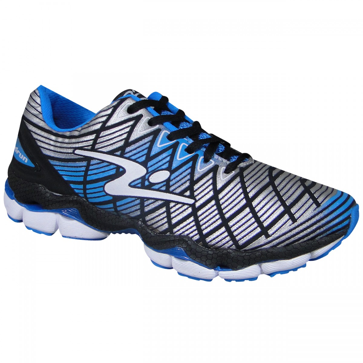 Tenis Adrun Bend 07004M 959 - Preto Prata Azul - Chuteira Nike ... 5561187025587