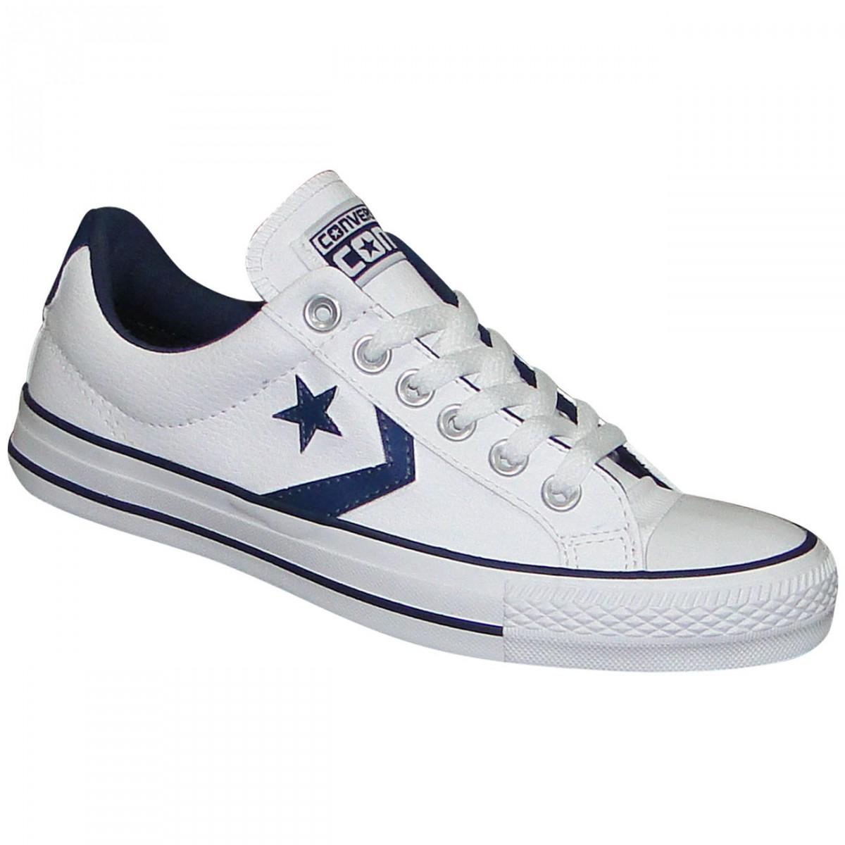 0f950cb08ce Tênis All Star Converse Star Player CO219161 - Branco Marinho - Chuteira  Nike