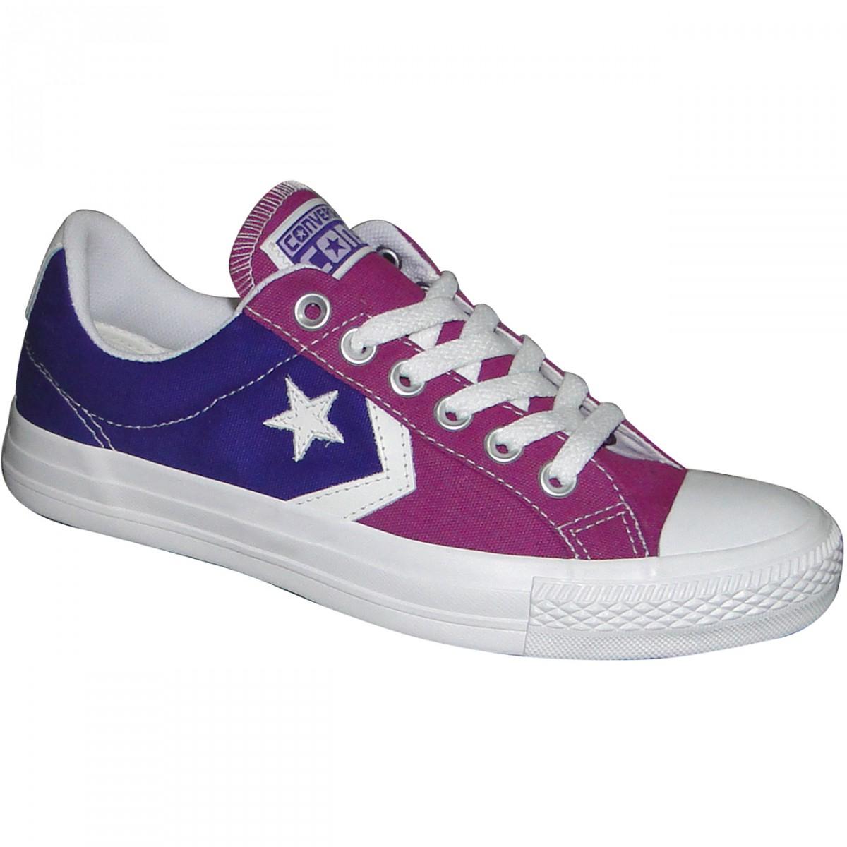 3f37903b3a2 Tenis All Star Converse Star Player CO261655 - Roxo Orquidea Branco - Chuteira  Nike