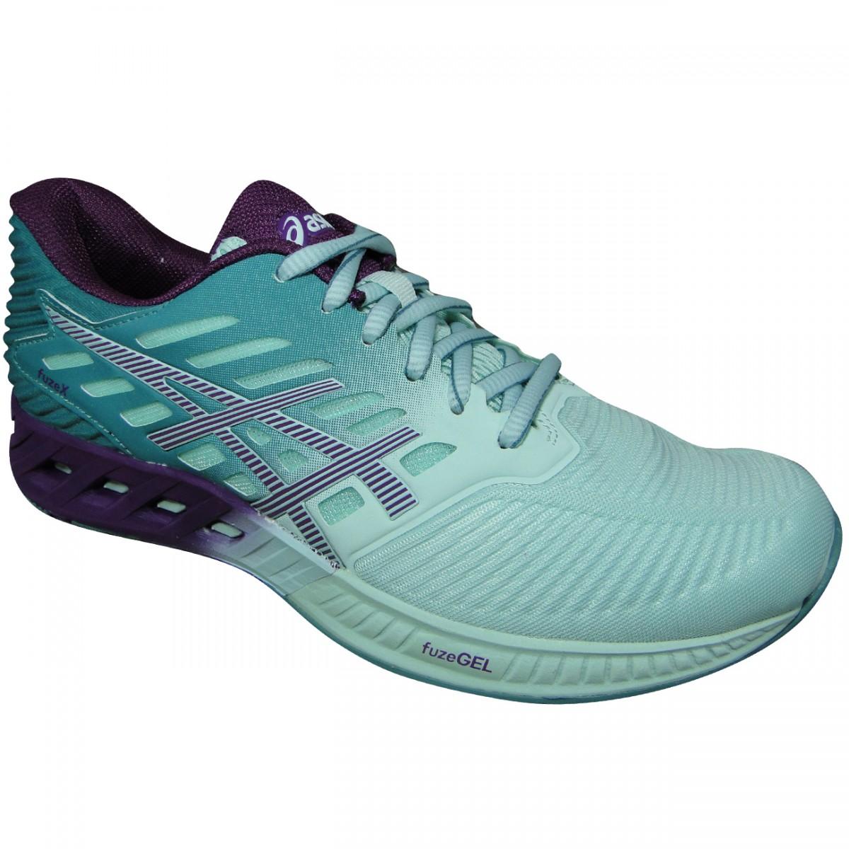 efcdde547dc0b Tenis Asics FuzeX T689N 3933 - Verde Agua Uva - Chuteira Nike ...
