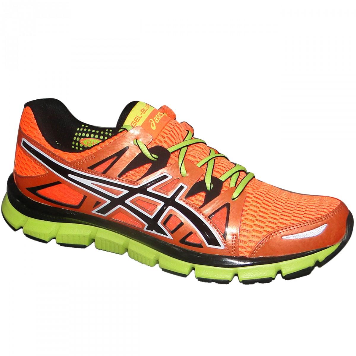 Tenis Asics Gel-Blur33 2.0 T2H3N-3290 - Laranja Preto Limão - Chuteira  Nike 398e090645b5e