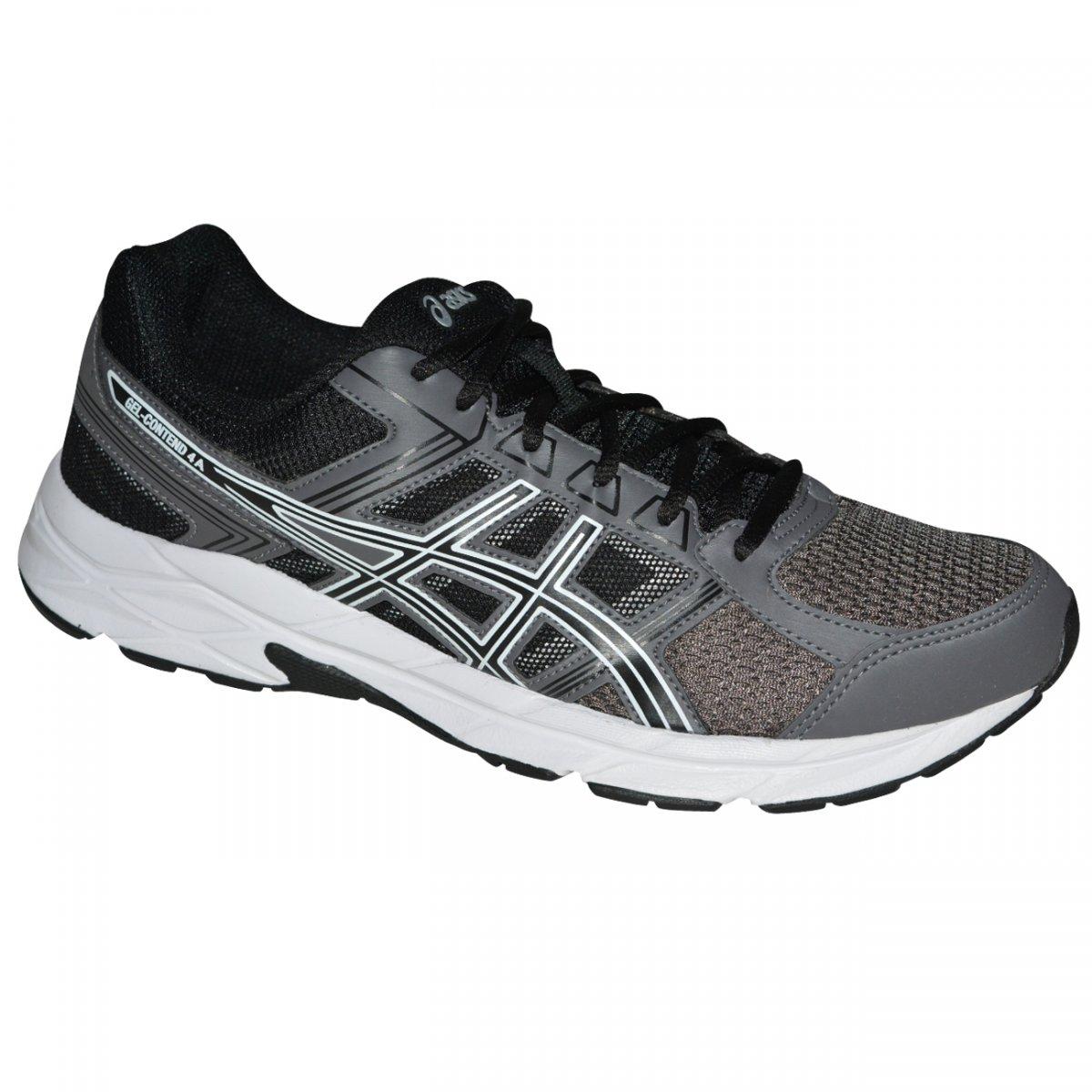 Tenis Asics Gel-contend 4 T026A 9290 - Grafite preto branco - Chuteira  Nike a4d1e69073b5c