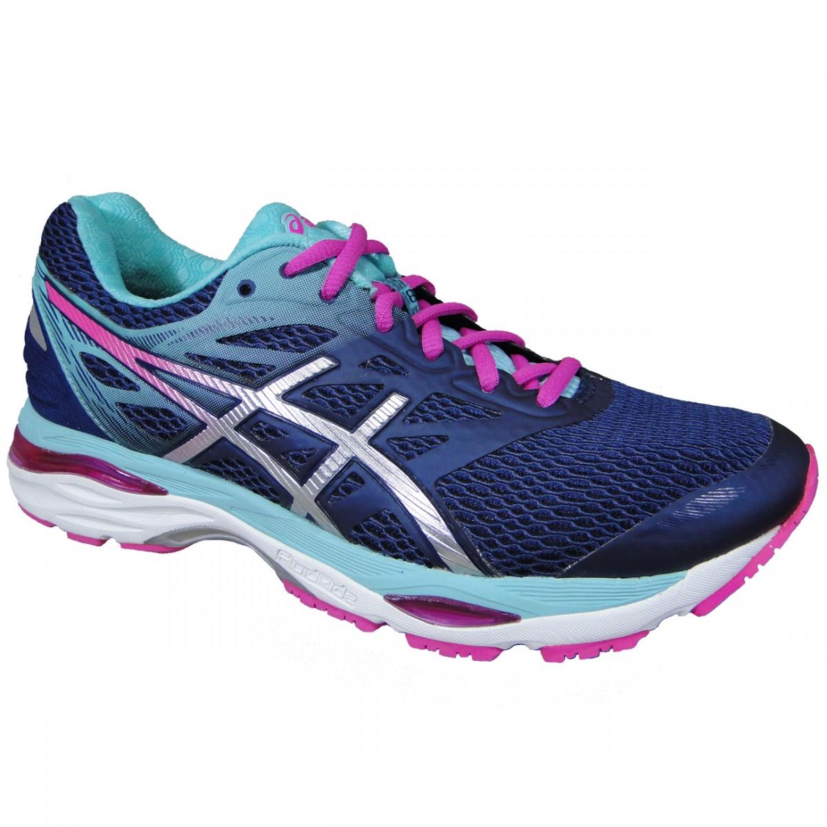7f5c8caf5e4 Tenis Asics Gel-Cumulus 18 T6C8N 4993 - Marinho Verde Agua Pink - Chuteira  Nike
