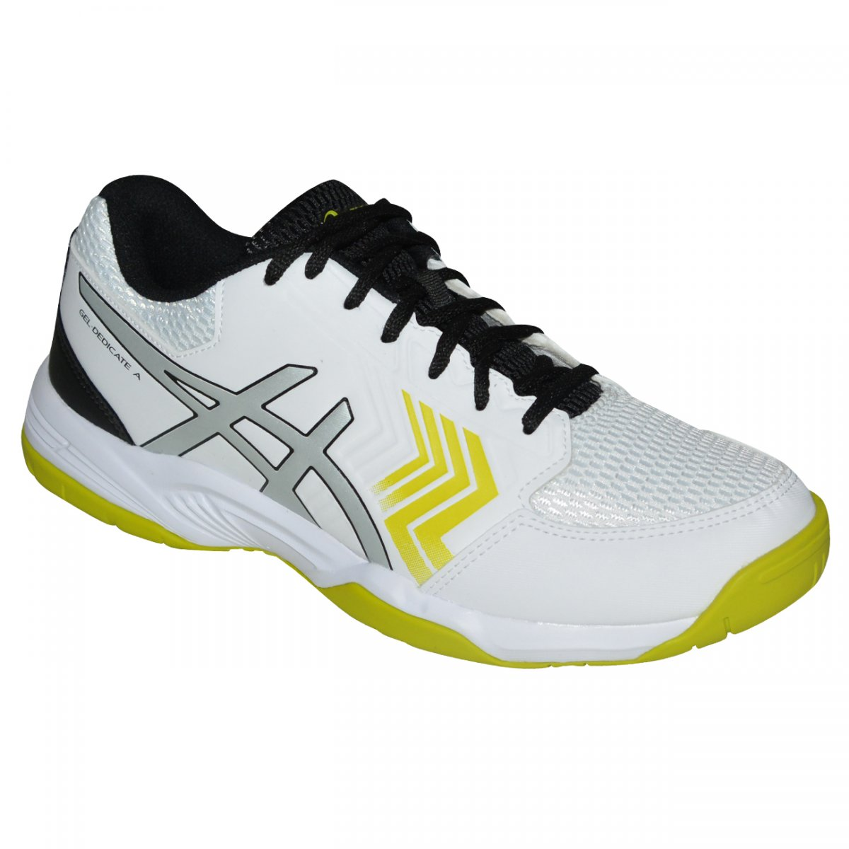 6dc16a048a9af5  Tenis Asics Gel-Dedicate 5 E001B-0193 - Branco prata verde  - Chuteira Nike ... ac75331f437de