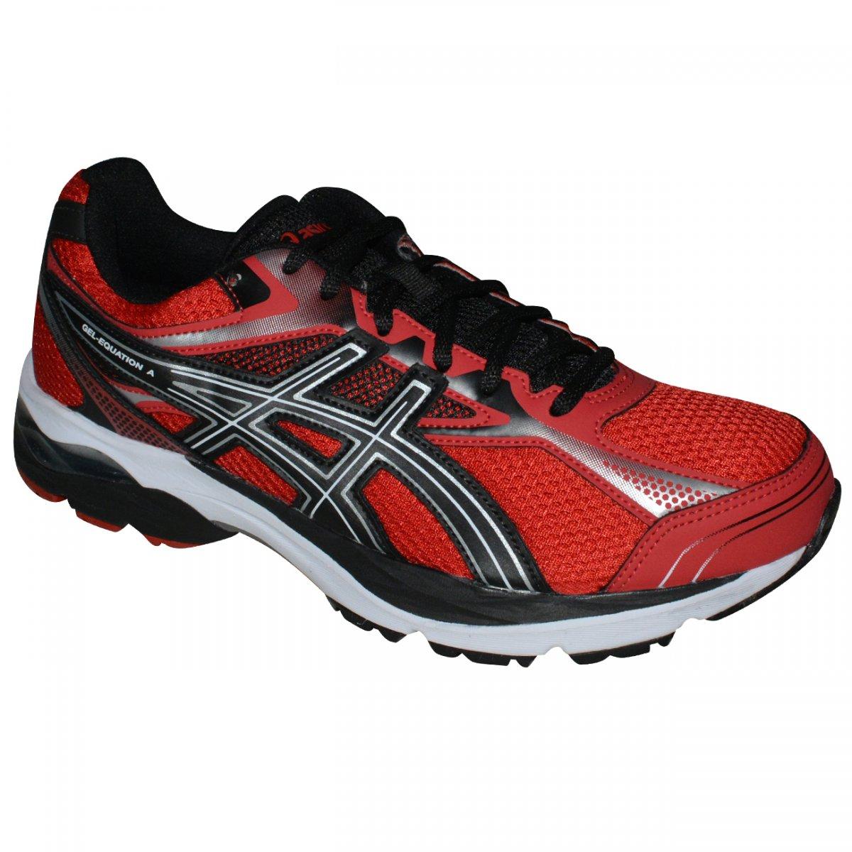 e87fada1297 Tenis Asics Gel-Equation 9 T022A 9001 - Vermelho preto prata - Chuteira Nike