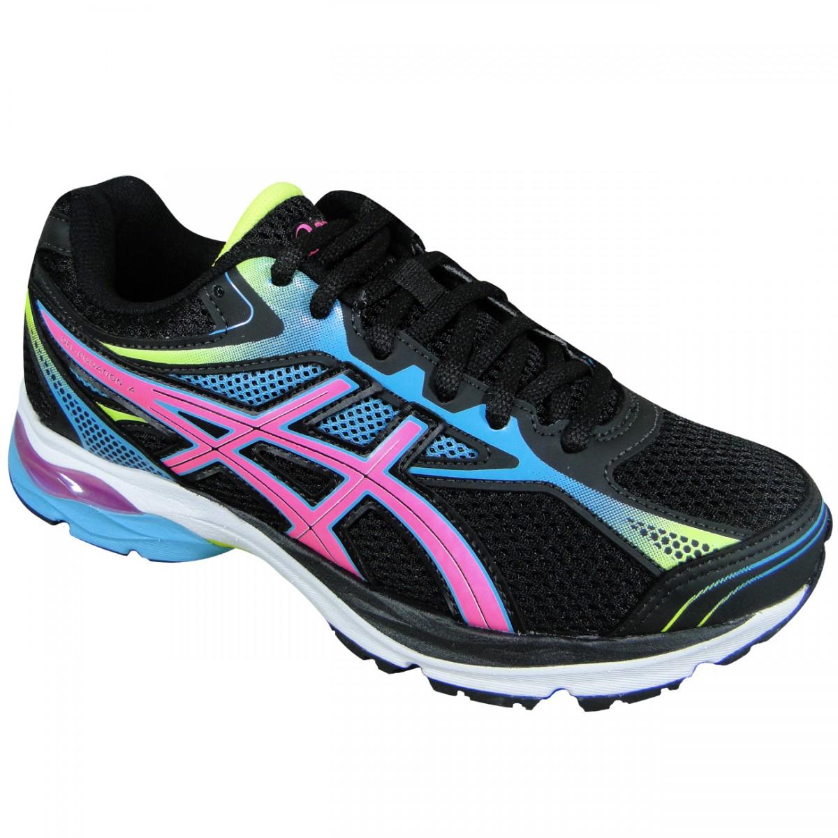 79a2db2557e4b Tenis Asics Gel-Equation 9 T072A 9020 - Preto Azul Rosa - Chuteira Nike