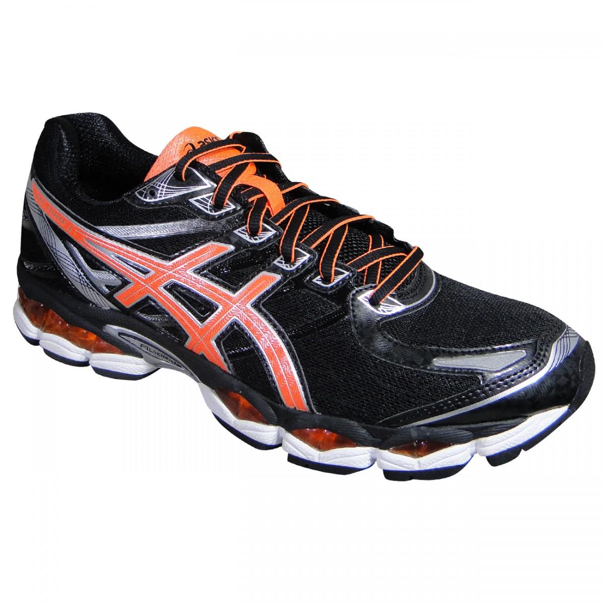 1f6ce87306 Tenis Asics Gel-Evate 3 T516N 9030 - Preto/Laranja/Prata - Chuteira Nike,  Adidas. Sandalias Femininas. Sandy Calçados