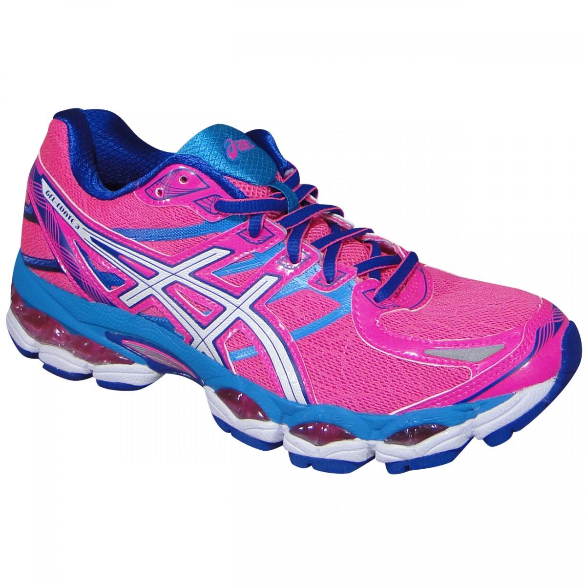 9d2e51fa68 Tenis Asics Gel-Evate 3 T566N 3401 - Pink/Azul/Branco - Chuteira Nike,  Adidas. Sandalias Femininas. Sandy Calçados