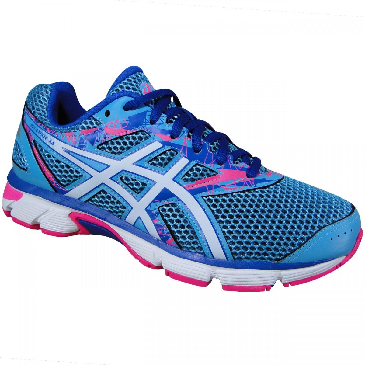 bb12b58592f Tenis Asics Gel-Excite 4 T070A 4820 - Azul Branco Pink - Chuteira Nike