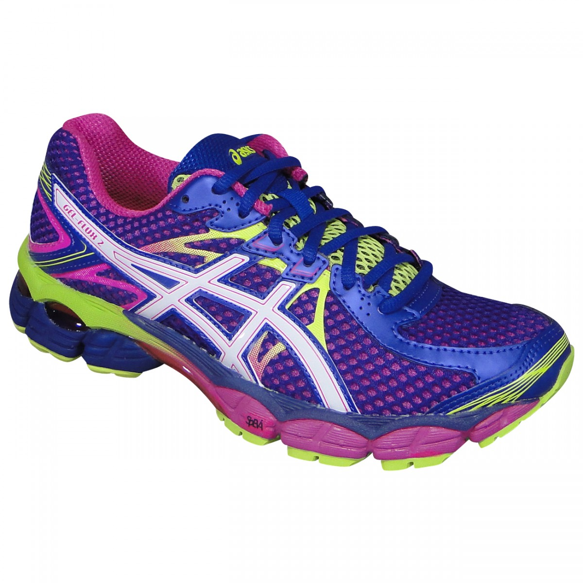 Tenis Asics Gel-Flux 2 T568Q 3301 - Roxo Pink Limão - Chuteira Nike ... 5786b51255f2c