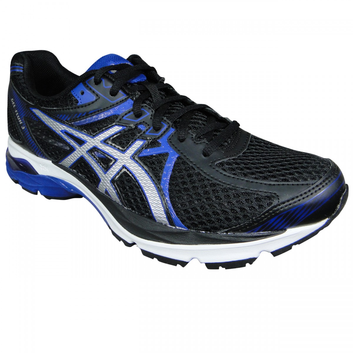 Tenis Asics Gel-Flux 3 T614N 9093 - Preto Prata Azul - Chuteira Nike ... 851a1e37b4762