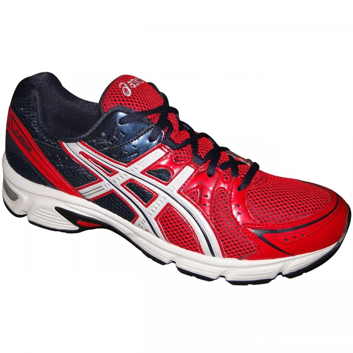 0e5230e2fe TENIS ASICS GEL-IMPRESSION 5 T2F1Q-2850 - MARINHO VERMELHO BRANCO -  Chuteira Nike