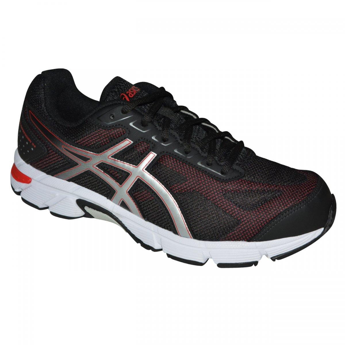 f4aaf728001 Tenis Asics Gel-impression 9 T021A 9089 - Preto vermelho prata - Chuteira  Nike