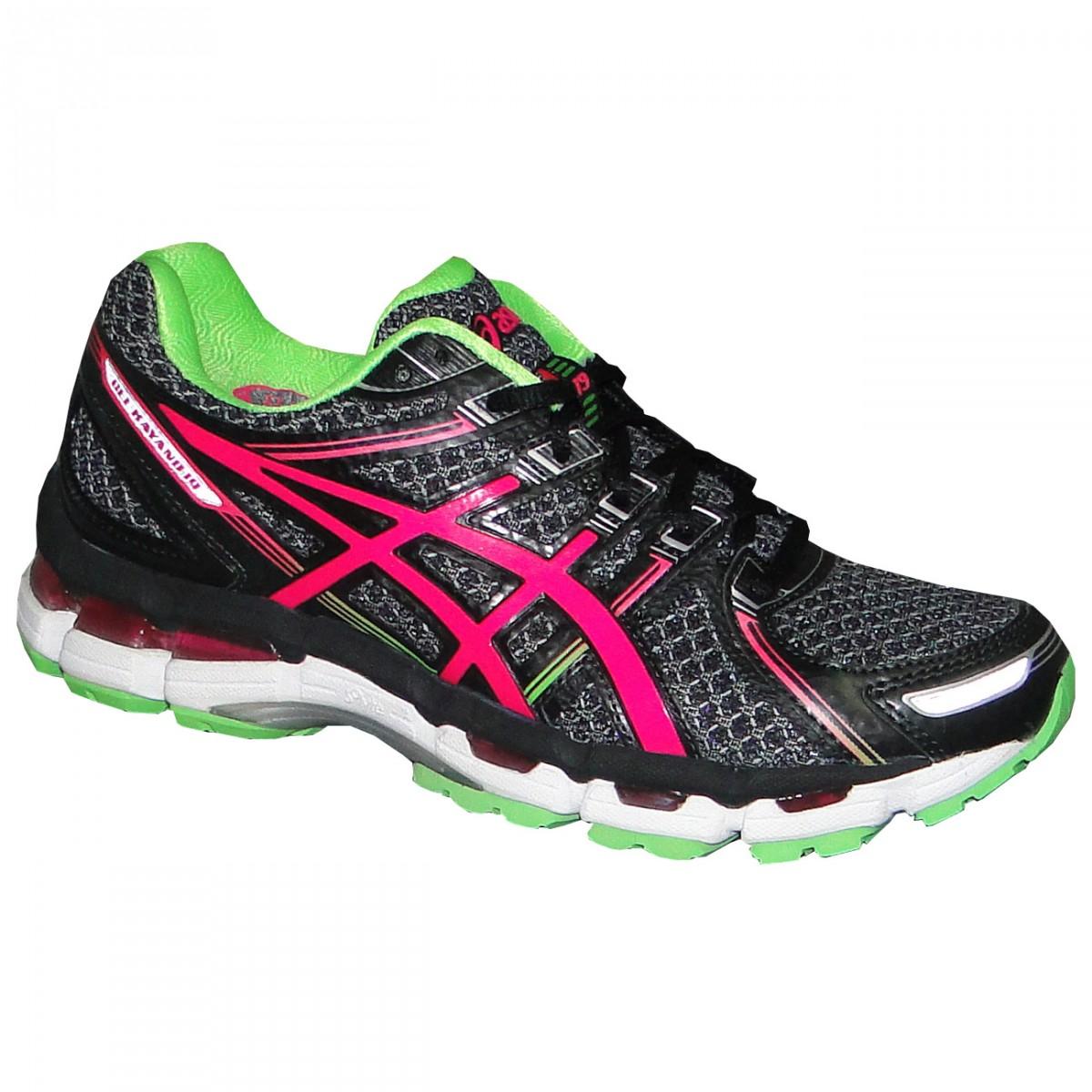 6df9763ae83 Tenis Asics Gel-Kayano 19 T350N 9035 - Preto Pink Verde - Chuteira Nike