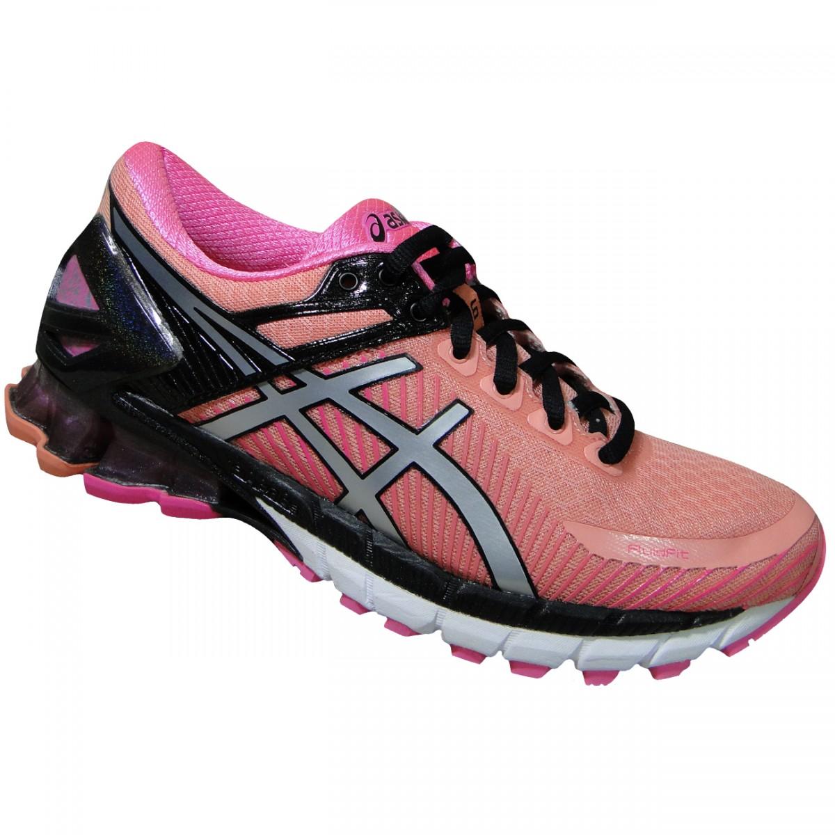 c9a4f8b588d Tenis Asics Gel-Kinsei 6 T692N 7693 - Coral Preto Pink - Chuteira Nike
