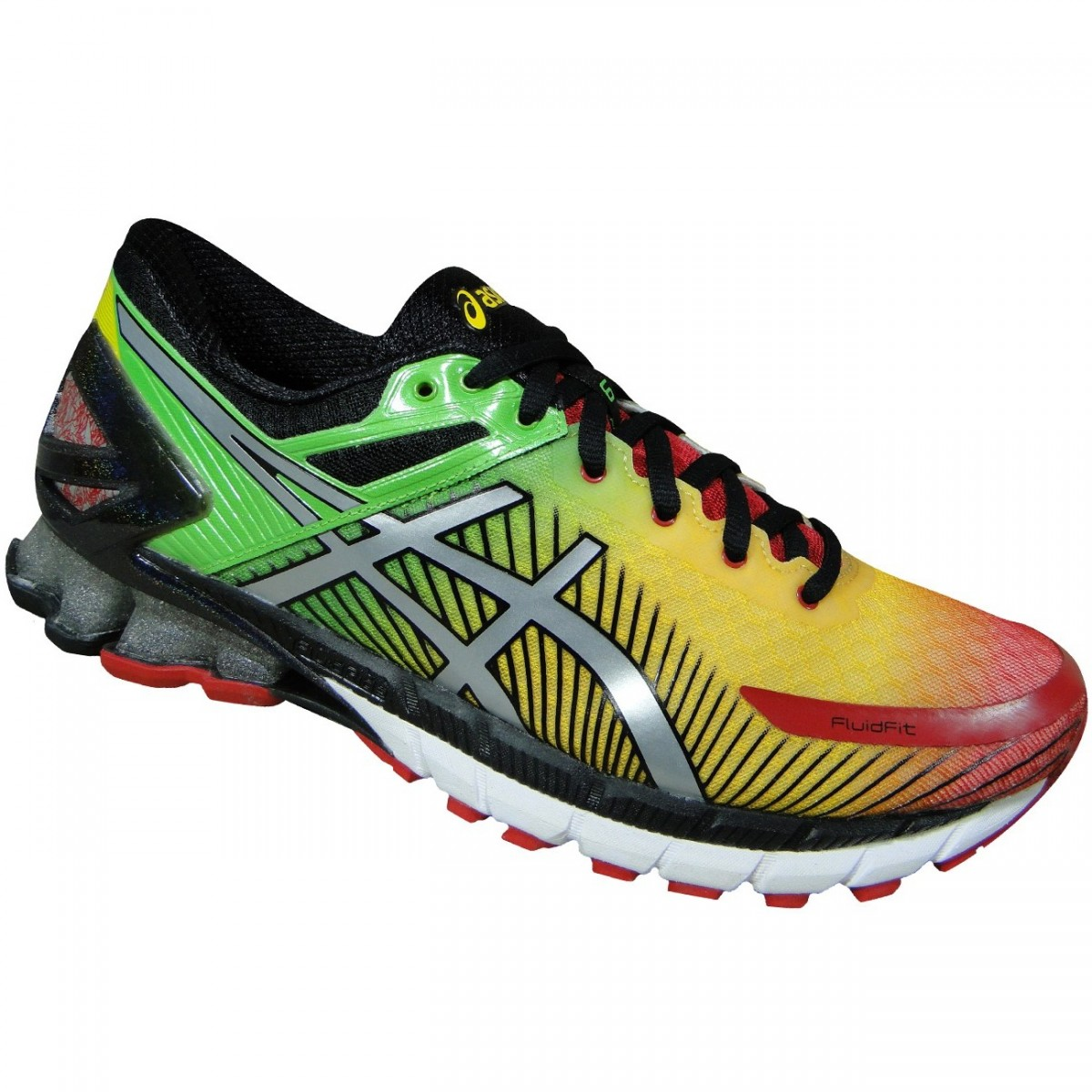 5e9c38e6ace Tenis Asics Gel-Kinsei 6 T644N 2493 - Verde Amarelo Vermelho - Chuteira  Nike