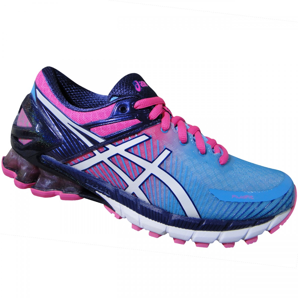 fdc3f3cc0fc Tenis Asics Gel-Kinsei 6 T694N 3901 - Azul Rosa Branco - Chuteira Nike