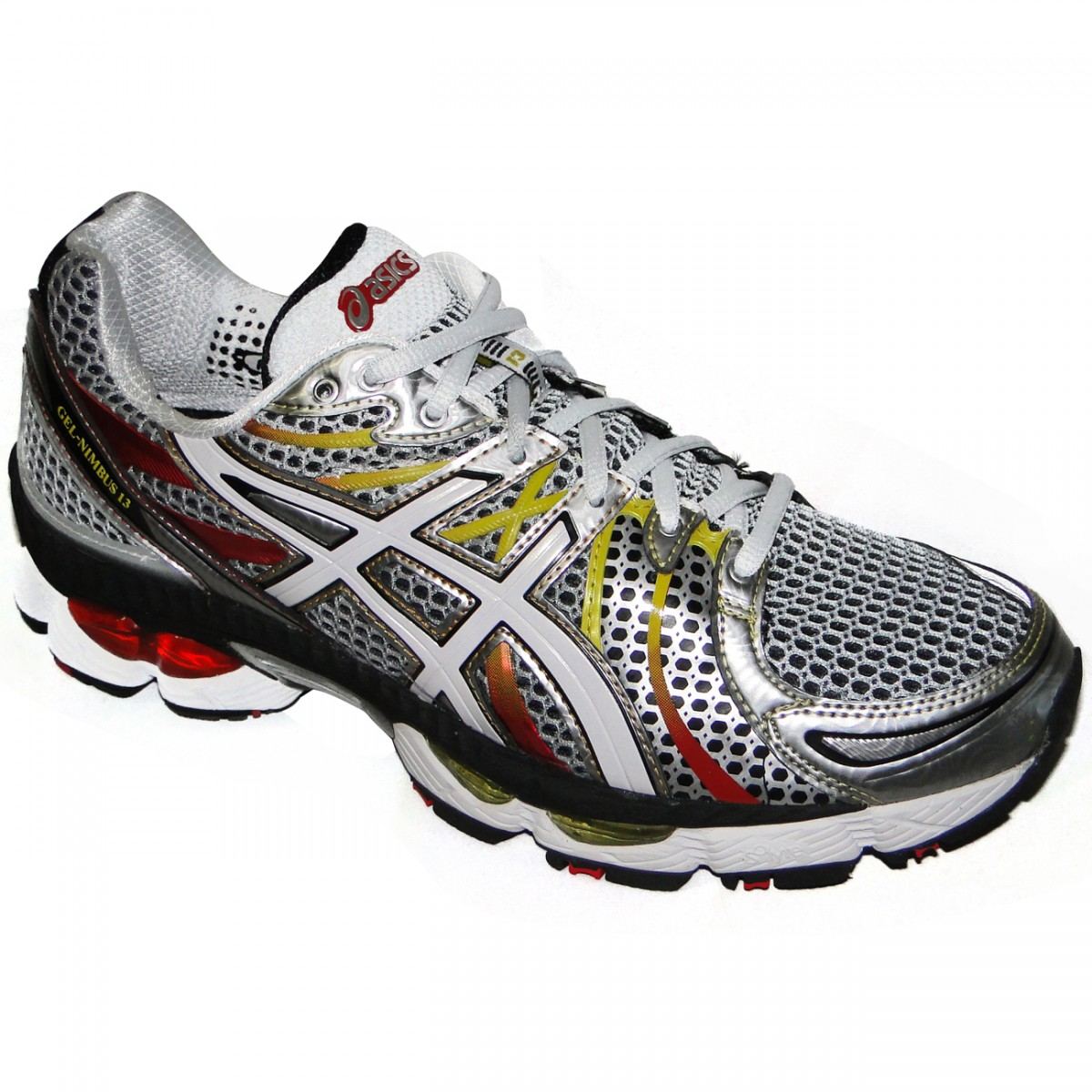 TENIS ASICS GEL-NIMBUS 13 2543 - PRATA BRANCO - Chuteira Nike ... da522dd5d6ea8