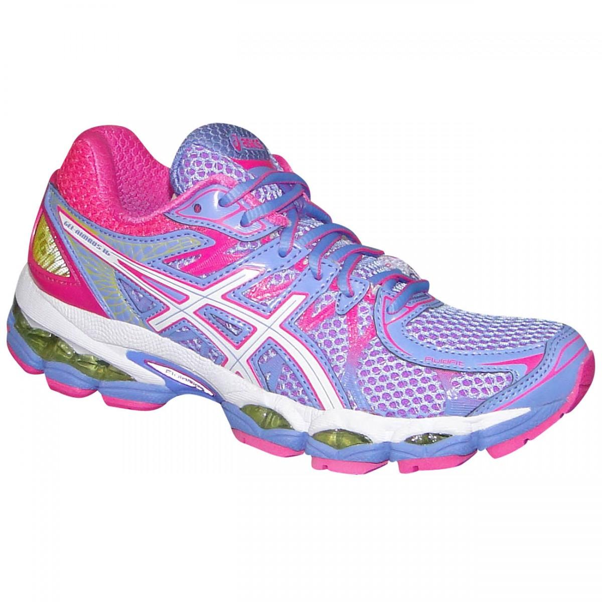 a739aabb7f8 Tenis Asics Gel-Nimbus 16 T485N 3601 - Lilas Pink Branco - Chuteira Nike