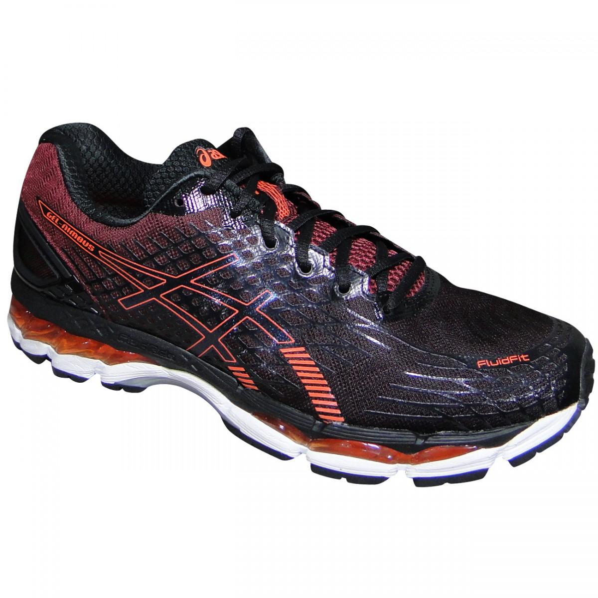 Tenis Asics Gel-Nimbus 17 T507N 9030 - Preto Vinho Laranja - Chuteira Nike 67f6a3ffd35b8