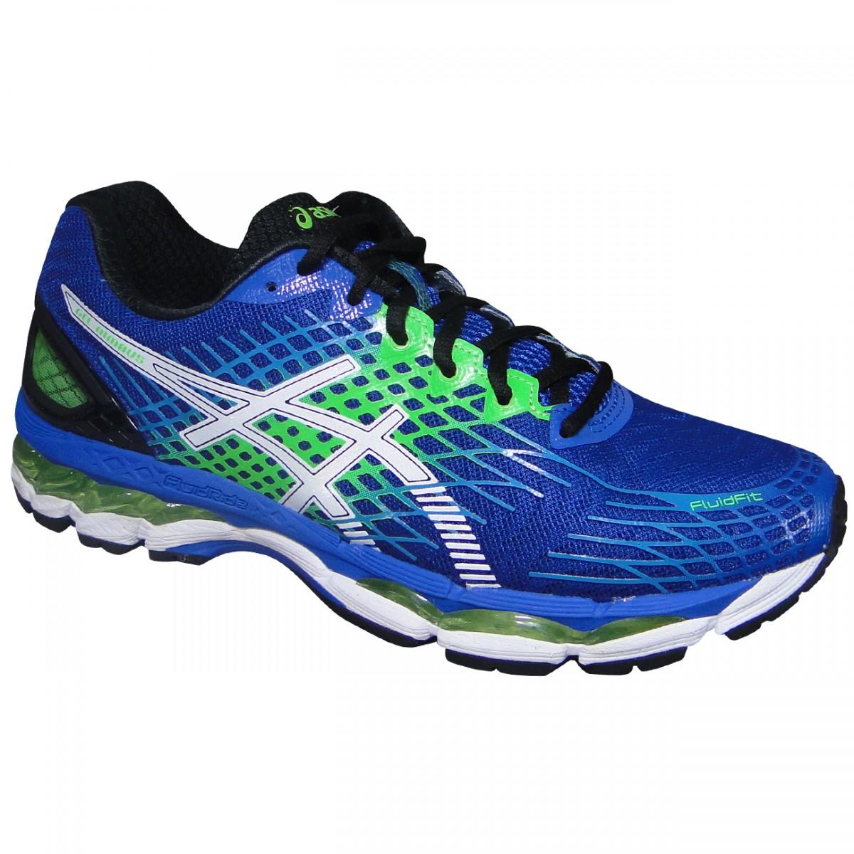 1a502ed0353b9 Tenis Asics Gel-Nimbus 17 T507N 5901 - Azul Branco Verde - Chuteira Nike