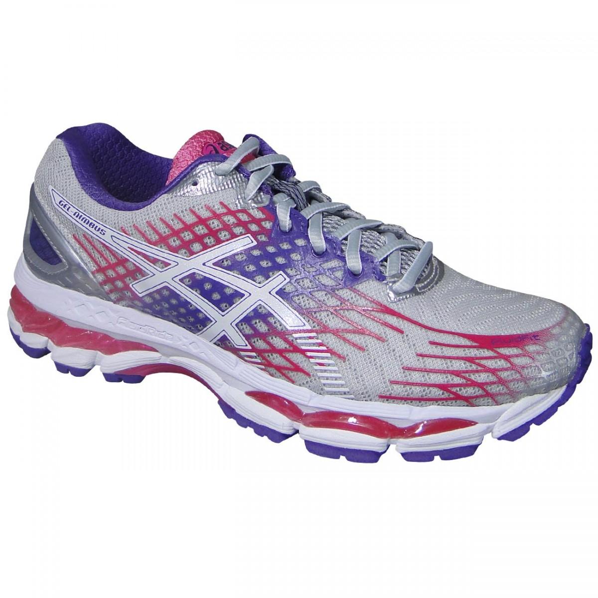 Tenis Asics Gel-Nimbus 17 T557N 9301 - Cinza Uva Pink - Chuteira ... 9ec38f0c2aa54